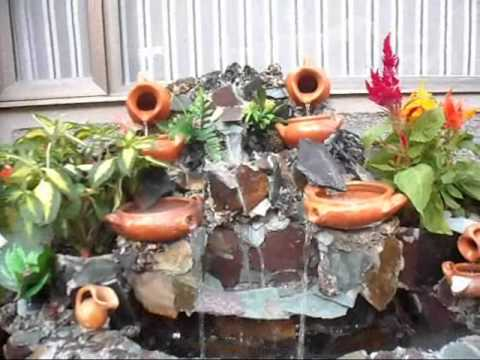 Cascada peque a youtube for Cascada casera para jardin