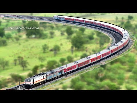 Spectacular View RAJDHANI Express from Hill Top | Indian Railways