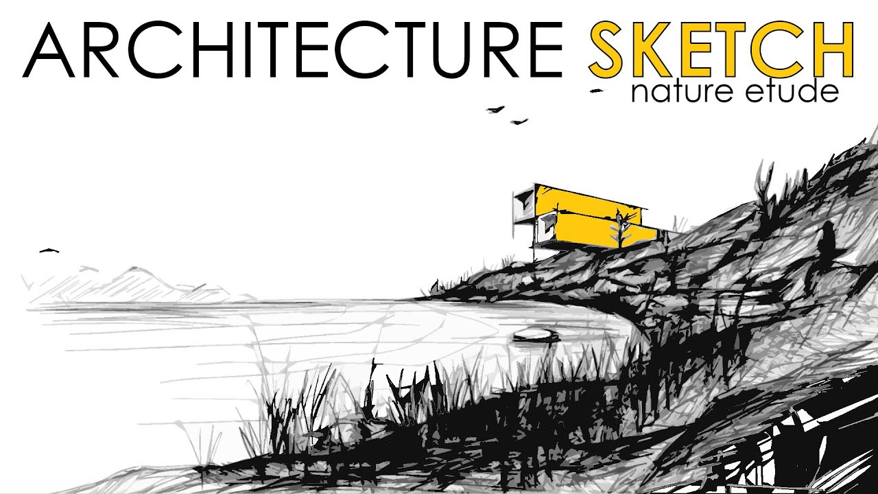 architecture sketch wallpaper. Modren Wallpaper How To Draw A Landscape Fast Sketching  ARCHITECTURE SKETCH In Architecture Sketch Wallpaper I