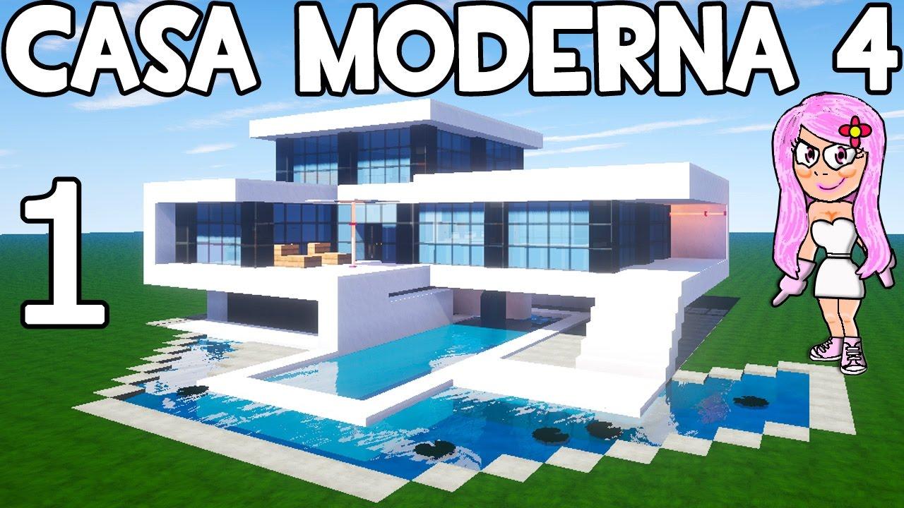 Como decorar tu casa moderna en minecraft parte 1 for Casa moderna 3 parte 2