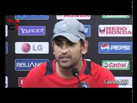 MS Dhoni DEFENDS Yuvraj Singh at ICC Cricket World Cup 2011 .flv ghost of nasar