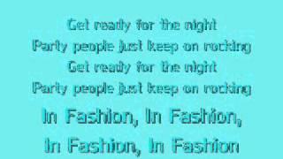 Black Eyed Peas - Fashion Beats , Lyrics on Screen