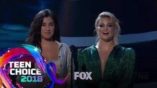 Olivia Holt & Lauren Jauregui Win Their Awards | TEEN CHOICE