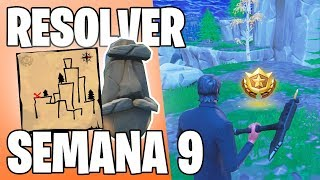 FORTNITE-HOW TO SOLVE THE CHALLENGES OF THE WEEK 9 + SECRET CATEGORY