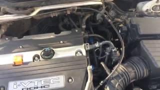 Работа двигателя К20А. Странное цоканье.