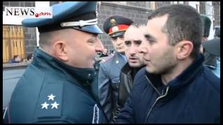 Car rally in Gyumri demanding that Russian soldier be handed to Armenian side