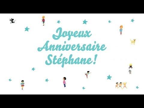 joyeux anniversaire stephane chanson