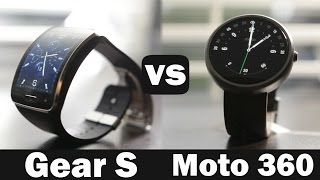 Samsung Gear S Vs Moto 360 Smartwatch Comparison(Here is a our smartwatch compariosn of the Samsung Gear S Vs the Moto 360 Help make our video possible by using are Our links when you get something on ..., 2014-11-22T20:30:03.000Z)