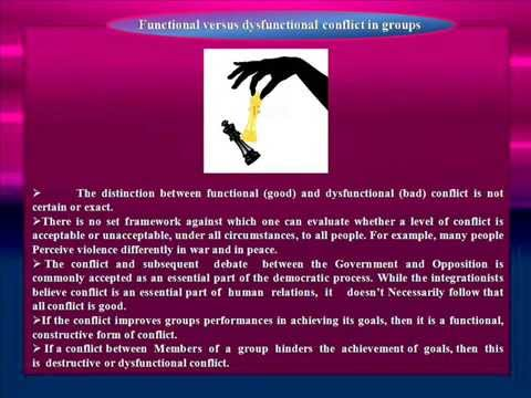 distinguish between functional and dysfunctional conflict What is the difference between functional and dysfunctional conflict can conflict that starts off as functional become dysfunctional can dysfunctional conflict be changed to functional conflict.