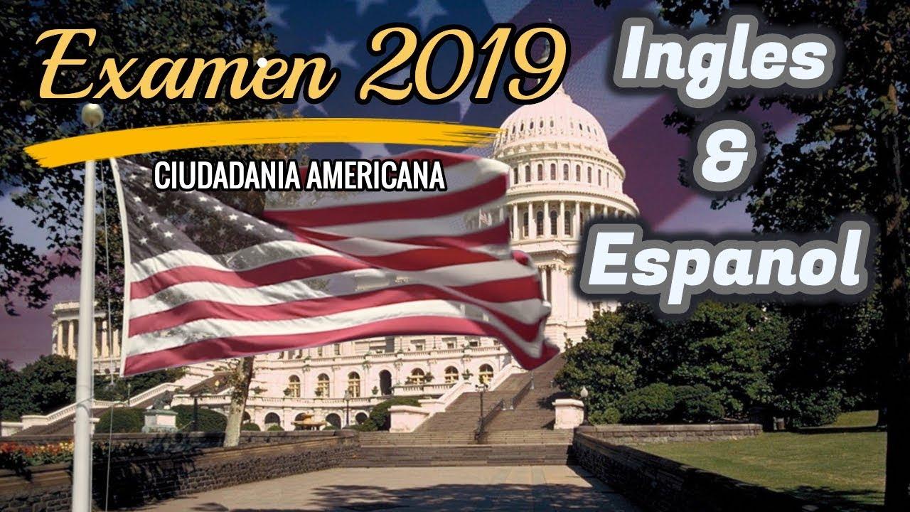 Nuevo Examen De Ciudadania Americana 2019 Ingles Español Pregunta De La Entrevista Youtube