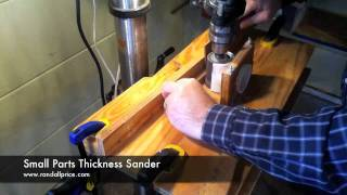 Small Parts Thickness Sander
