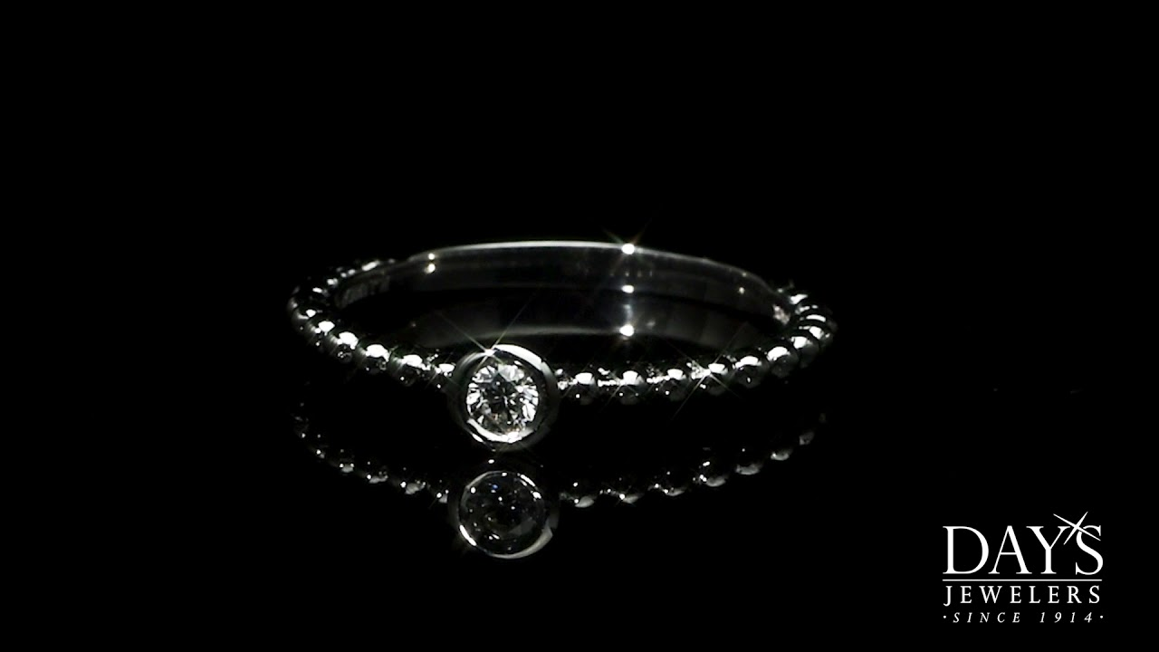 a31a836966f Forevermark Tribute Collection Diamond Stackable Ring in 18kt White Gold (1  10ct)