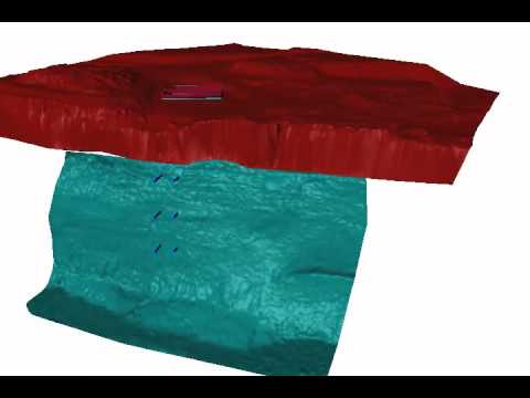 Sonar and 3D Laser/LIDAR mapping at a raw water intake.