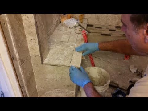 How To Tile A Shower Bench - Part 2 - Step By Step - D.I.Y - YouTube