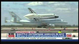 Space Shuttle Enterprise Landing JFK International Airport New York City (April 27, 2012)