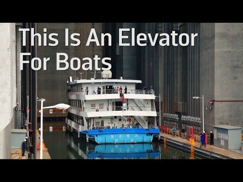 This Is An Elevator For Boats