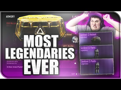 LEGENDARIES EVERYWHERE! - Best 'Legendary Supply Drops' + TONS OF ELITES! (COD AW Best Supply Drops)