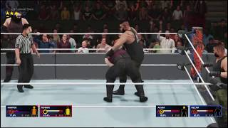 WWE2K19 the bludgeon bros v the authors of pain