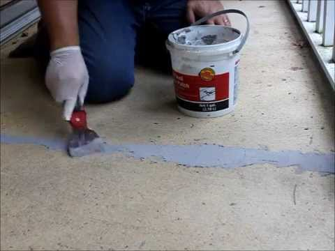 Patching A Cracks On A Concrete Porch