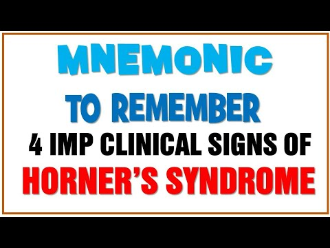 Mnemonic for Most IMP clinical signs Horner's syndrome