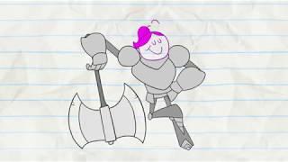 рисованная анимация рыцари. приколы в анимациях.