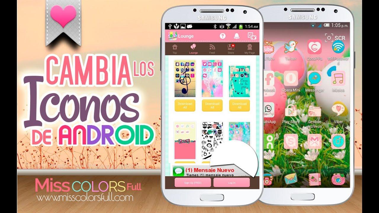 Cambia los iconos de tu celular sin root personaliza for Aplicaciones para decorar el movil