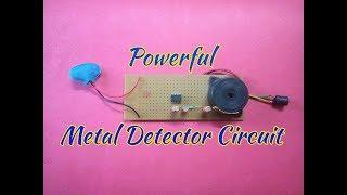 Make A Simple Metal Detector At Home..