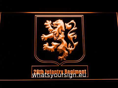 US Army 28th Infantry Regiment LED Neon Sign