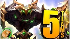 5 TEAMS FOR KARZHAN DUNGEON - (Summoners War | Dimension Hole)