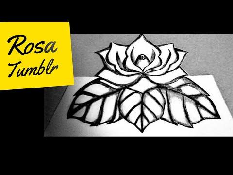 Como Desenhar Rosa Tumblr 3d Youtube