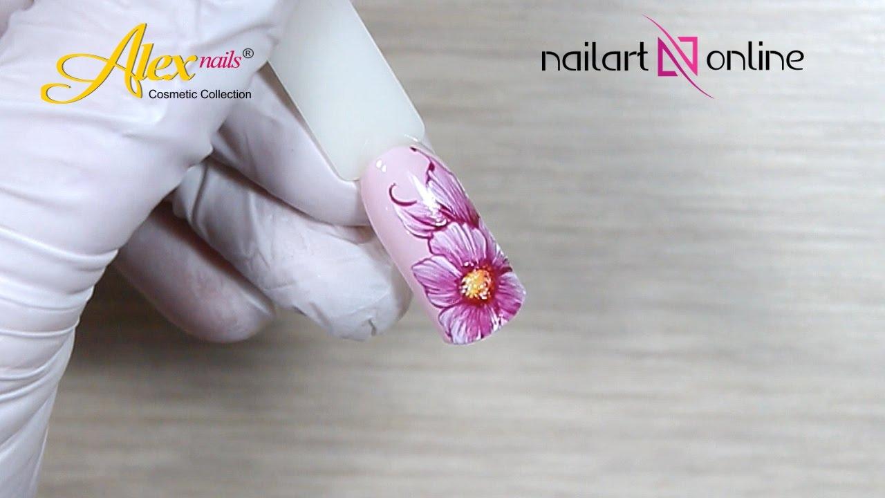 Nageldesign für kurze nägel . Frühlingsblumen . Design №23 - YouTube