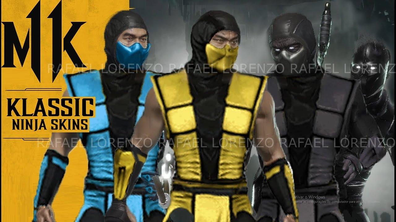 Mortal Kombat 11 Klassic Mk3 Ninja Scorpion Sub Zero Noob Skins