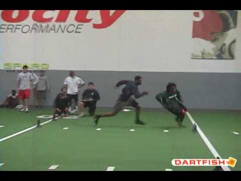 NFL Draft Training - 3cone Dartfish Comparison
