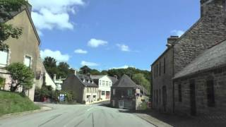 Driving On The D31 Between La Croix Tasset & Rostrenen, Brittany, France 17th August 2015