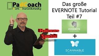 Evernote das große Tutorial Teil #7: Scannable und Scansnap ix100