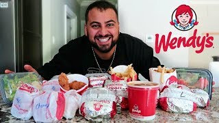 ENTIRE WENDY'S MENU IN 10 MIN CHALLENGE!!