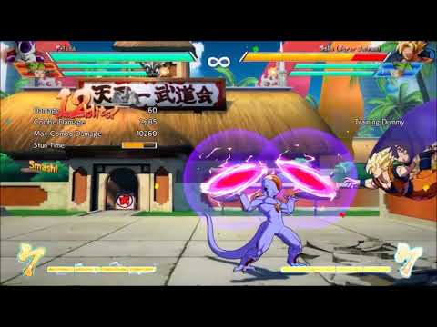 DBFZ mango frieza patch 2 combos max solo damage in the game