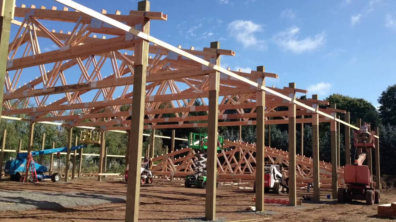 Raising Trusses Marv S Pole Barns Inc Youtube