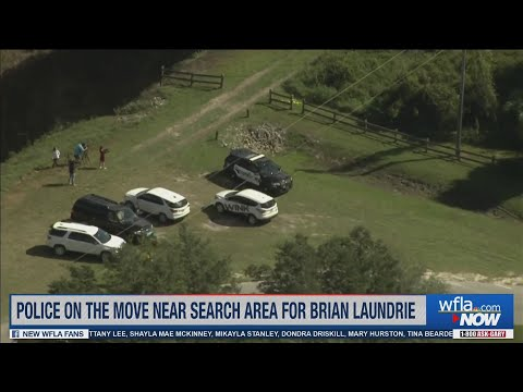 Brian Laundrie search: Police tape put up at nature reserve entrance, law enforcement seen in park