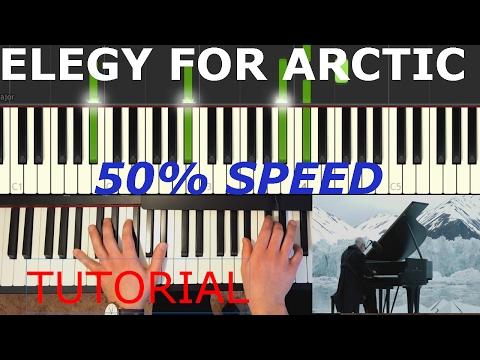 Elegy for the Arctic - Einaudi (TUTORIAL SYNTHESIA) 50%SPEED mp3