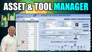 How To Create Your Own Asset Manager With Check-In/Check-Out \u0026 Depreciation In Excel [Free Download]
