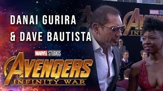 Danai Gurira and Dave Bautista Live at the Avengers: Infinity War Premiere