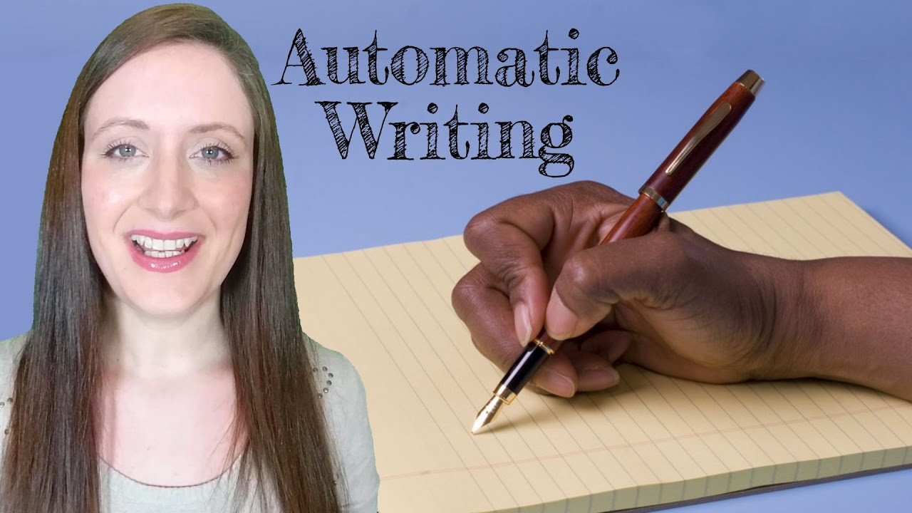 automatic writing Automatic writing is the practice of writing words in a trance-like state that originate from a place outside of conscious awareness psychologists and spiritualists have varying beliefs about the origin of automatic writing, with some arguing that it is sourced from the unconscious mind, and others claiming that it originates from supernatural.