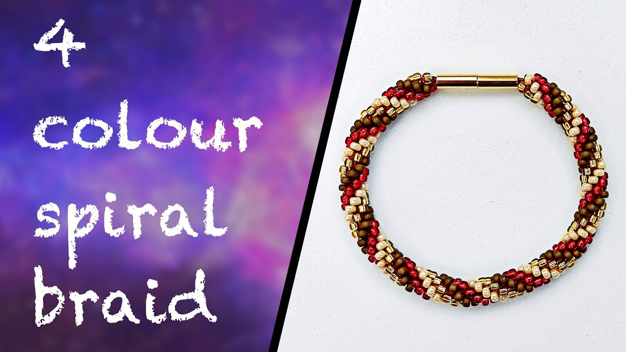 How To Make A 4 Colour Spiral Braid Youtube