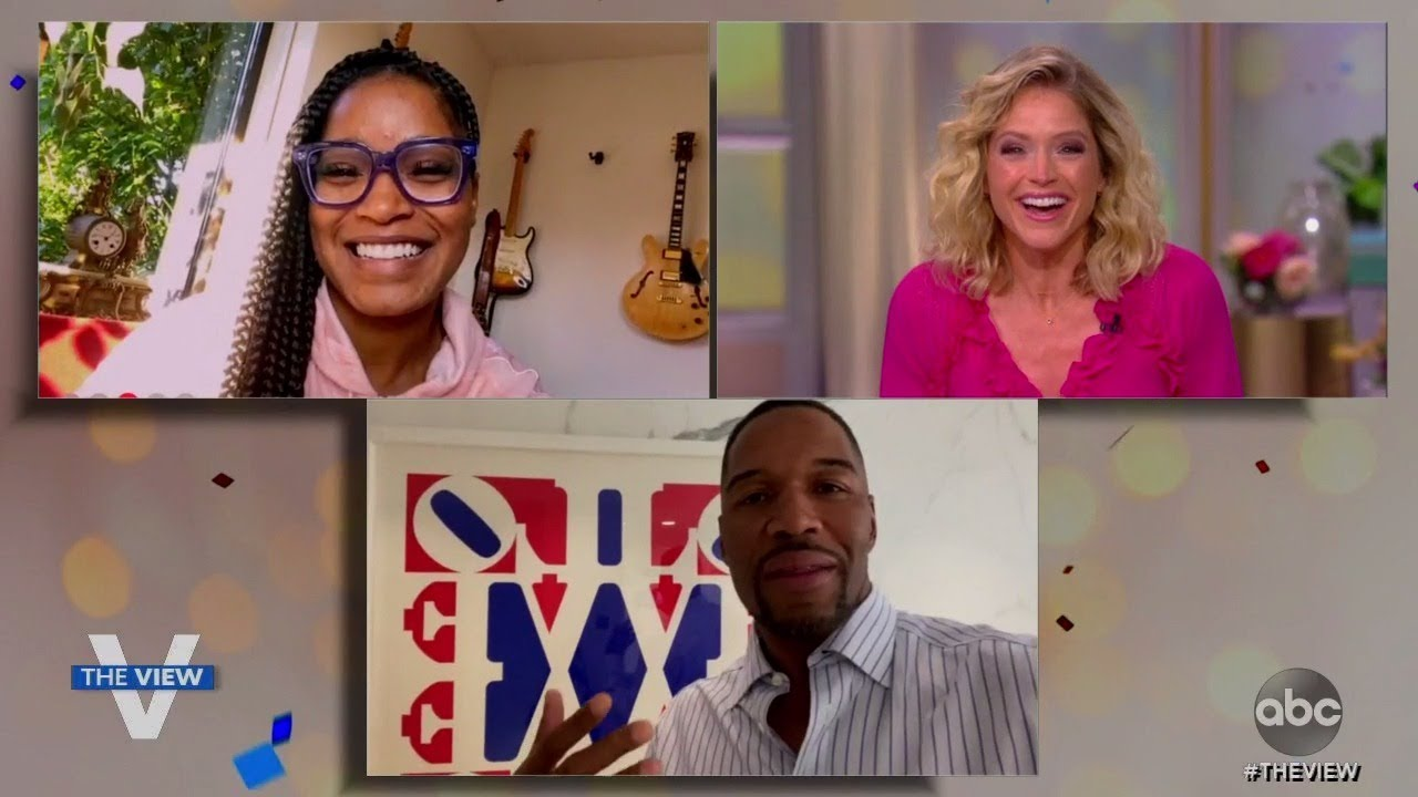 Sara Haines Gets a Birthday Surprise From Keke Palmer and Michael Strahan! | The View