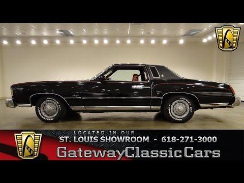 1975 Chervolet Monte Carlo 6223 Gateway Classic Cars St Louis Youtube