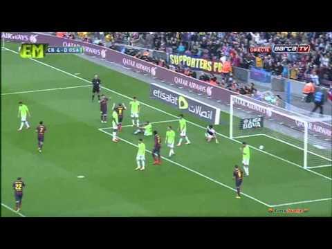 FC Barcelona vs Osasuna [7-0][16-03-2014] All Goals Highlights