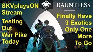 SKVplaysON - DAUNTLESS - 1 More Exotic Left, (Free to Play PC games),  [ENGLISH] PC Gameplay