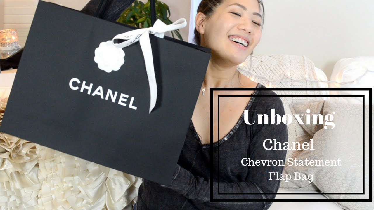 00082329457f Unboxing Chanel Chevron Statement Flap Bag | Chianingly - YouTube