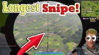 *NEW* WORLD RECORD SNIPE IN FORTNITE! - WORLDS LONGEST SNIPER SHOT!